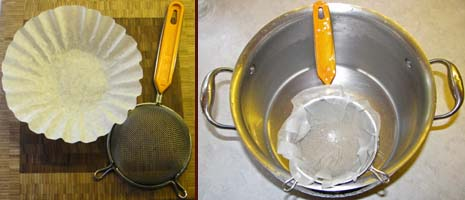 Lime-Water Filter for making homemade hominy